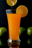 Orange juice glass Stock Image