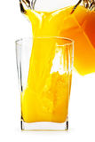 Orange juice in glass ang jug Royalty Free Stock Image