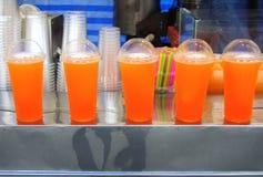 Orange juice. Glass of orange juice blended models Royalty Free Stock Photos