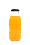 Orange juice glass bottle Royalty Free Stock Photo