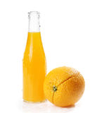 Orange juice glass bottle Stock Photos