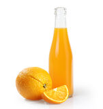 Orange juice glass bottle Royalty Free Stock Photography