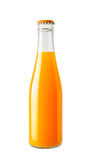 Orange juice in glass bottle Royalty Free Stock Photo
