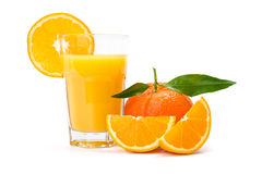 Orange juice in glass stock image