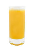 Orange juice in glass isolated Stock Images