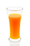 Orange juice of glass isolated on the white background Royalty Free Stock Photos