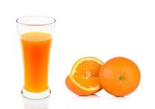 Orange juice of glass isolated on the white background Stock Photo