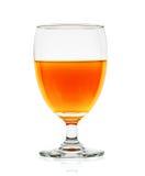 Orange juice of glass isolated on the white background Stock Images