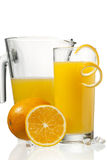 Orange juice in glass Royalty Free Stock Photo