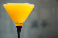 Orange juice in a glass for martini Royalty Free Stock Image