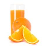 Orange  juice glass  and orange fruit Royalty Free Stock Photography