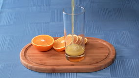 Orange juice. stock video footage