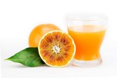 Orange juice. In glass with slice Stock Photo