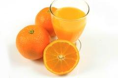 Orange juice. Glass of orange juice on white background Stock Images