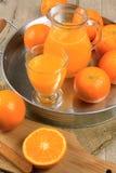Orange juice. Glass of orange juice on white background Stock Image