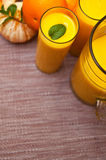 Orange juice with glasses Royalty Free Stock Photography