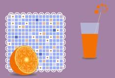 Orange and juice Stock Image