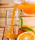 Orange Juice Healthy Indicates Tropical Fruit und organisch stockfotografie