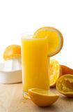Orange Juice. Homemade fresh organic orange juice stock photos