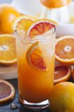 Orange Juice. Homemade freshly squeezed orange juice with ice royalty free stock image