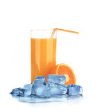 Orange Juice with ice cubes Stock Photography