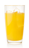 Orange juice with ice cubes Royalty Free Stock Photography