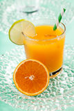 Orange juice with ice Royalty Free Stock Photo