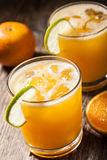 Orange juice with ice Royalty Free Stock Photos