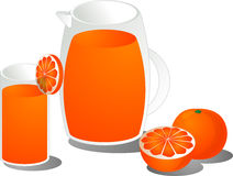Orange juice illustration Royalty Free Stock Photo