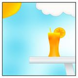 Orange juice. Illustration in a good summer day Stock Photo
