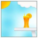 Orange juice. Illustration in a good summer day vector illustration