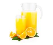 Orange Juice In Glass Jar Royalty Free Stock Image
