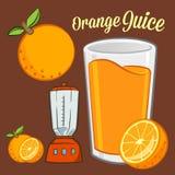Orange Juice Inggredients Fotografering för Bildbyråer