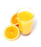 Orange juice isolated. On white background Royalty Free Stock Photos