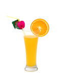 Orange juice isolated. On the white background Royalty Free Stock Photo
