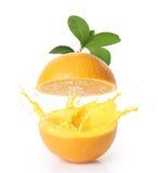 Orange juice isolated Stock Photography