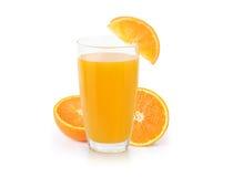 Orange juice isolated on white. Orange juice isolated on a white royalty free stock image