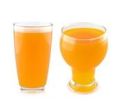 Orange juice isolated on white background Royalty Free Stock Photos