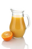 Orange juice in a jug  Stock Photo