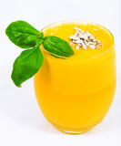 Orange juice from a juicer Royalty Free Stock Photos