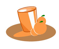 Orange juice. A nice glass of orange juice vector illustration