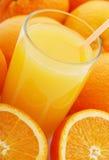 Orange juice and the orange Royalty Free Stock Image