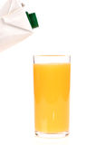 Orange juice of orange. Isolated on white background Royalty Free Stock Photos