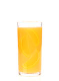 Orange juice of orange. Isolated on white background Royalty Free Stock Photo