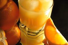 Orange juice and orange Stock Photography