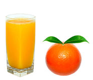 Orange juice and orange Royalty Free Stock Photography