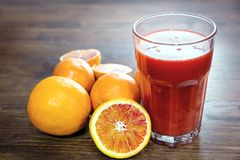 An orange juice,. Source of vitamins and energy Royalty Free Stock Image