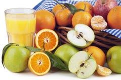 Orange Juice, Oranges and Apple Royalty Free Stock Images