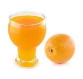 Orange juice with oranges Royalty Free Stock Images