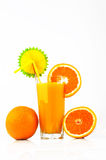 Orange Juice with oranges and slices of orange Royalty Free Stock Photo